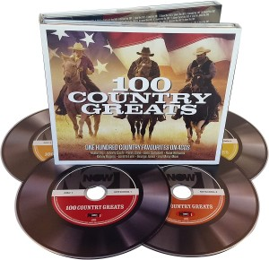 Audio CD Various artists. 100 Country greats
