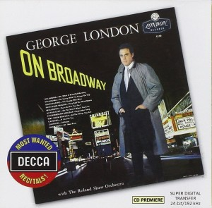 Audio CD George London. On Broadway