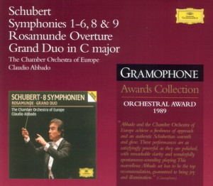 Audio CD Franz Schubert, Claudio Abbado, Chamber Orchestra Of Europe. Schubert: Symphonies Nos. 3 & 4