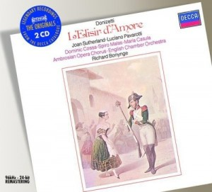 Audio CD Richard Bonynge. Donizetti: L`Elisir d`amore