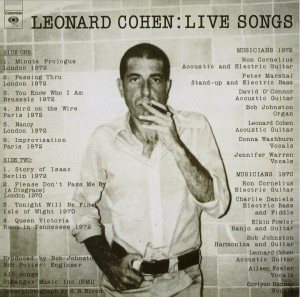 LP Leonard Cohen. Live Songs (LP)