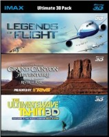 Ultimate 3D Collection: Legends of Flight / Grand Canyon Adventure / Ultimate Wave Tahiti 3D (Real 3D Blu-Ray + Blu-Ray)