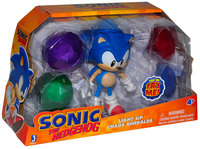 Набор Соник и 4 кристалла - Sonic with chaos emeralds (свет), 13 см (65910)