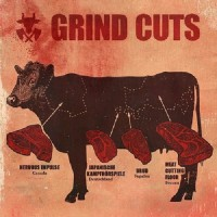 Various Artists. Grind Cuts! - 4 Way Split: Nervous Impulse / Meat Cutting Floor / Japanische Kampförspiele / Brud (CD)