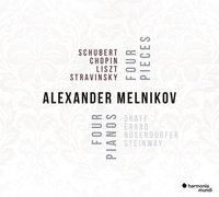 Alexander Melnikov: Schubert, Chopin, Liszt, Stravinsky ‎– Four Pieces - Four Pianos (CD)