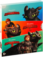 3D Blu-Ray Как приручить дракона. Трилогия (2D Blu-Ray + Real 3D Blu-Ray) / How to train your dragon