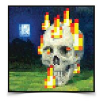 Постер Minecraft Burning Skull Poster 60x60 (33482)