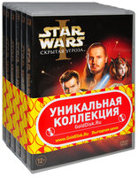 Звездные войны. Эпизоды I, II, III, IV, V, VI (6 DVD) / Star Wars: Episode I: The Phantom Menace / Star Wars: Episode II - Attack of the Clones / Star Wars: Episode III - Revenge of the Sith / Star Wars: IV: A New Hope / Star Wars: Episode V: The Empire Strikes Back / Star Wars: Episode VI: Return of the Jedi