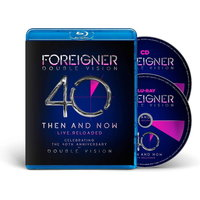 Blu-Ray + Audio CD Foreigner. Double Vision - Then And Now (40th Anniversary Edition)