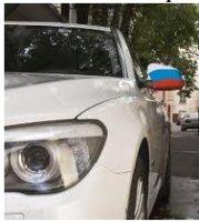 Автофлаг назеркальный. Испания (2 штуки)