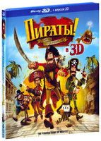 Blu-Ray Пираты: Банда неудачников (Real 3D Blu-Ray) / The Pirates! Band of Misfits
