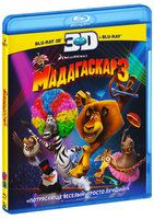 Blu-Ray Мадагаскар 3 2D + 3D (2 Blu-Ray) / Madagascar 3: Europe's Most Wanted
