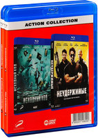 Blu-Ray Action collection: Призрачный гонщик 2 / Профессионал / Исходный код / Неудержимые / (4 Blu-Ray) / Ghost Rider: Spirit of Vengeance /Source Code / The Expendables / Killer Elite