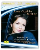 Blu-Ray Beethoven: Violin Concerto. Romances - Anne-Sophie Mutter, Kurt Masur (Blu-Ray Audio)