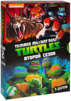 Коллекция мультфильмов Nickelodeon. Черепашки-ниндзя. Сезон 2 (5 DVD) / Teenage Mutant Ninja / Teenage Mutant Ninja / Teenage Mutant Ninja / Teenage Mutant Ninja / Teenage Mutant Ninja Turtles