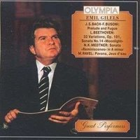 Audio CD Эмиль Гилельс. Бах-Бузони, Бетховен, Метнер, Равель