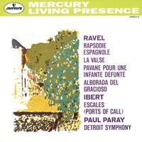 LP Detroit Symphony Orchestra, Paul Paray. Orchestral Music by Maurice Ravel & Jacques Ibert (LP)