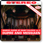 Audio CD Dupre Marcel. At Saint-Sulpice, Vol.5