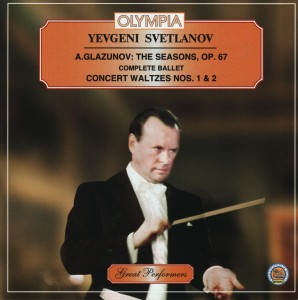 Audio CD Классика. Александр Глазунов / Времена Года. Шопениана / Евгений Светланов / Alexander Glazunov. The Seasons / Chopiniana