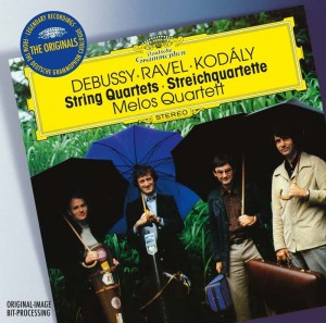 Audio CD Melos quartet. Debussy: string quartet / Ravel: string quartet