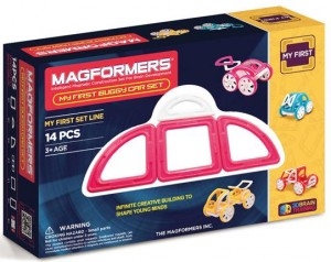 ����� ��������� �����������: Magformers My First Buggy Car Set - Pink 14 ��������� (63147)