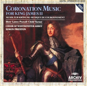Audio CD Harry Bicket, The Choir Of Westminster Abbey, The English Concert, Simon Preston. Coronation Music For King James II