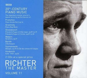 Audio CD Richter The Master. 20th Century Piano Works