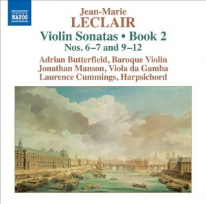 Audio CD Leclair. Violin Sonatas, Book 2 Nos.6-7 and 9-12