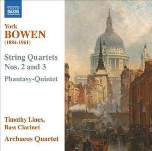Audio CD Timothy Lines, Archaeus String Quartet. String Quartets Nos. 2 and 3 / Phantasy-Quintet