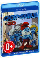 Blu-Ray Смурфики (Real 3D Blu-Ray) / The Smurfs