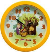 Часы. Маша и Медведь. Настенные. Бочка Меда