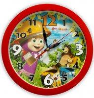 Часы. Маша и Медведь. Настенные. День Маляра