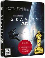 Blu-Ray ����������. ������������� ���� (Real 3D + 2D) (2 Blu-Ray) / Gravity