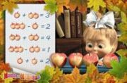 Маша и Медведь: Салфетка 3D: Задачи с яблоками