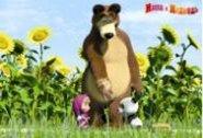 Маша и Медведь: Салфетка 3D: Подсолнухи