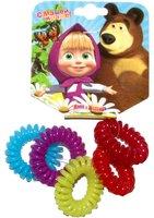 Маша и Медведь: Резинка для волос пружинки 5 шт