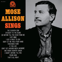 LP Mose Allison: Mose Allison Sings (LP)
