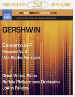 Blu-Ray Gershwin: Piano Concerto in F / Rhapsodie 2 (Blu-Ray Audio)
