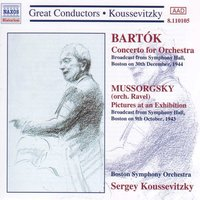 Audio CD Serge Koussevitzky's, Boston Symphony. BARTOK: Concerto for Orchestra / MUSSORGSKY: Pictures at an Exhibition