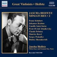 Audio CD Jascha Heifetz. Heifetz: Miniatures Vol. 2