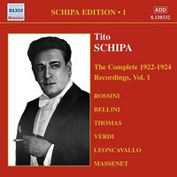 Audio CD Schipa Edition. The Complete 1922-1924, Recordings Vol.1